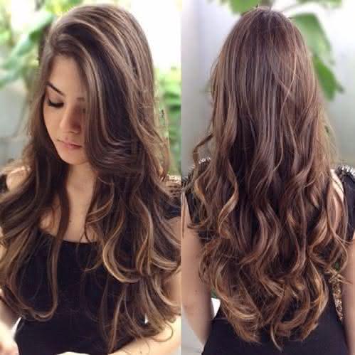 cortes de cabelo longo com franja