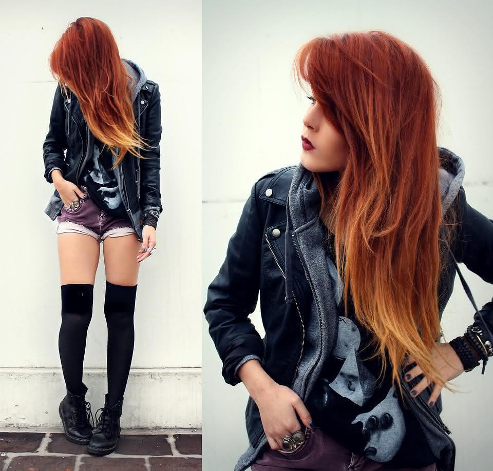 cabelo loiro com californiana vermelha 1