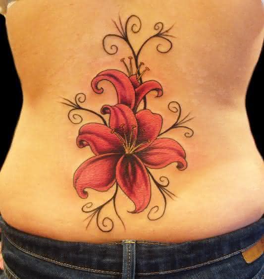 Tatuagens brasil tatuagens femininas de flores fotos - Tatouage fleur epaule ...