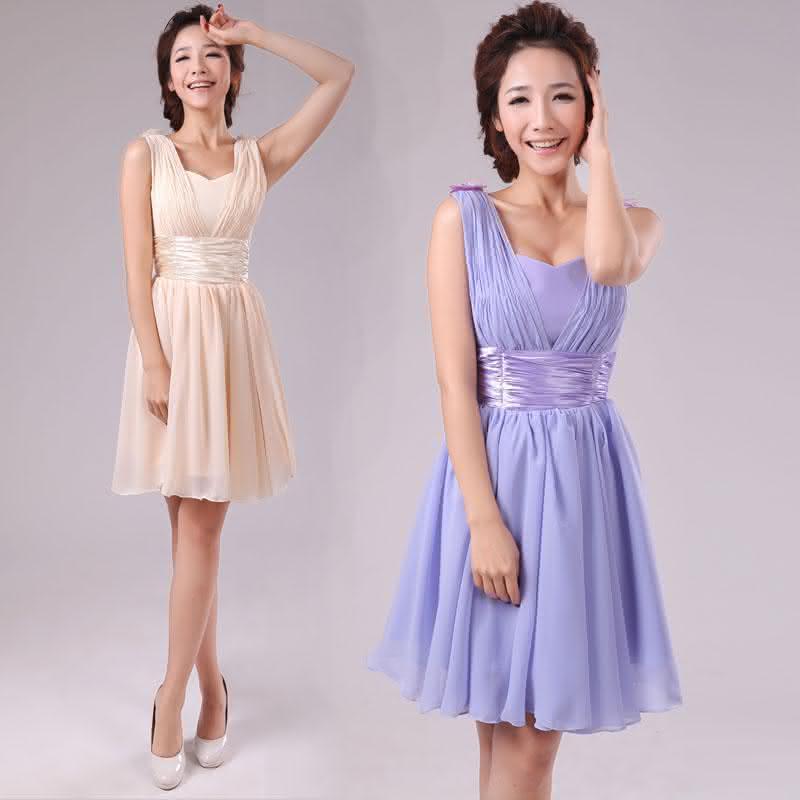 Fashion-Shoulders-font-b-Dress-b-font-Short-font-b-Bridesmaid-b-font-font-b-Dress