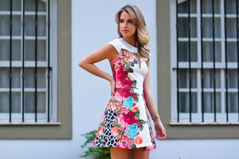 vestidos estampados floridos
