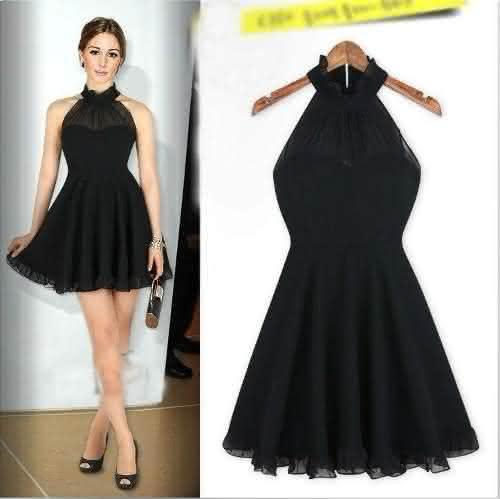 vestidos pretos curtos de festa 5