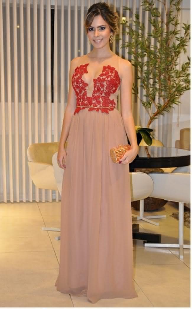7fd504158 vestido-longo-para-festa-vermelho-com-tule - Pequena Mila