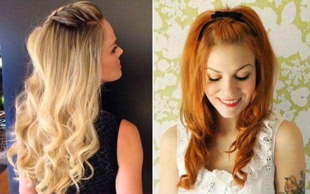 penteados simples - Opção com trança