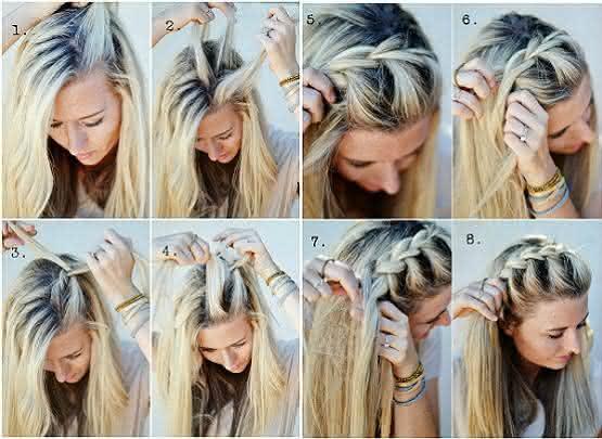penteados passo a passo fios platinados