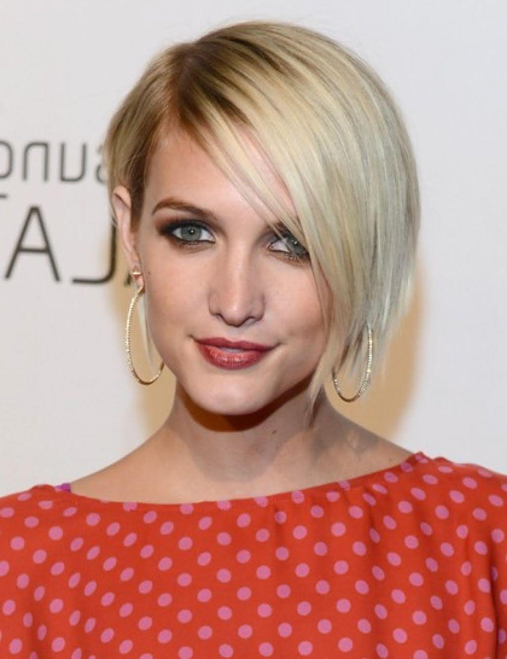 short-blonde-bob-hairstyles-with-side-bangs-ashlee-simpson-wentz-53f6b2ca3fa24