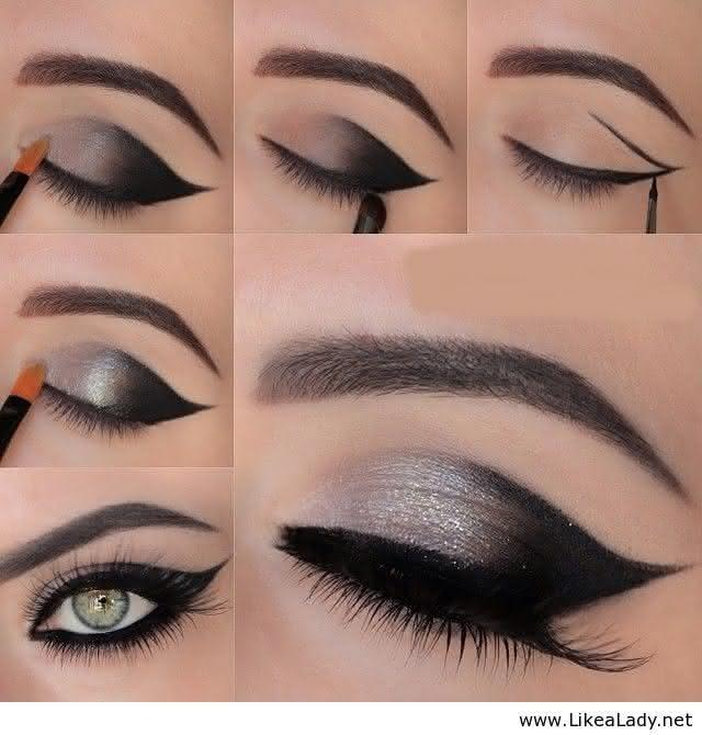 Black-and-silver-eye-makeuptutorial