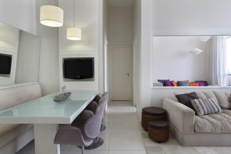 Sala De Jantar Pequena E Barata ~ DECORAÇÃO DE SALA 2017 Sala de Jantar e Estar  Pequena Mila