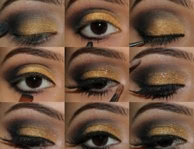 maquiagem-dourada-e-verde-389x298