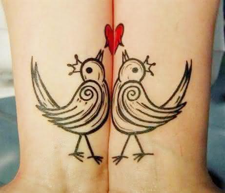 tatuagem para casal mila