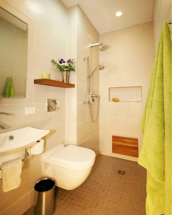 BANHEIROS PEQUENOS DECORADOS 2017 Fotos e Dicas -> Banheiros Simples Decorados Pequenos