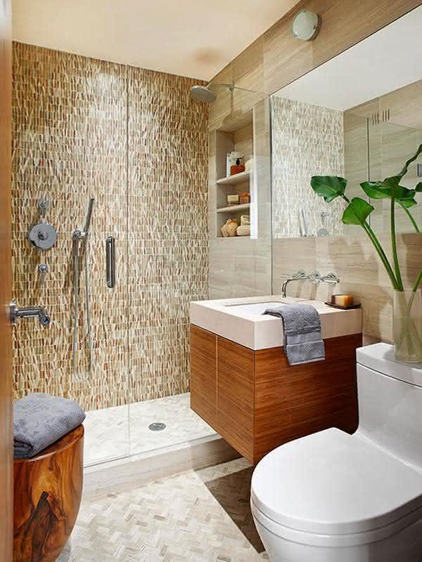 pequenos banheiro decorados