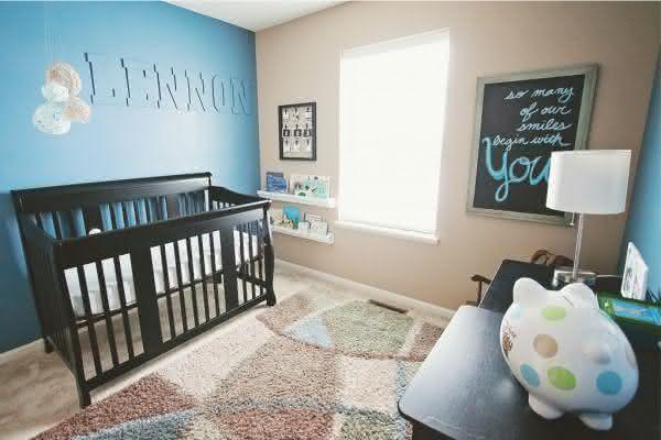 Quarto Azul Menino Beb 234 Pequena Mila