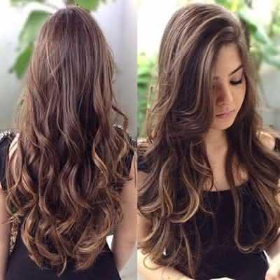 cabelos repicados em camadas