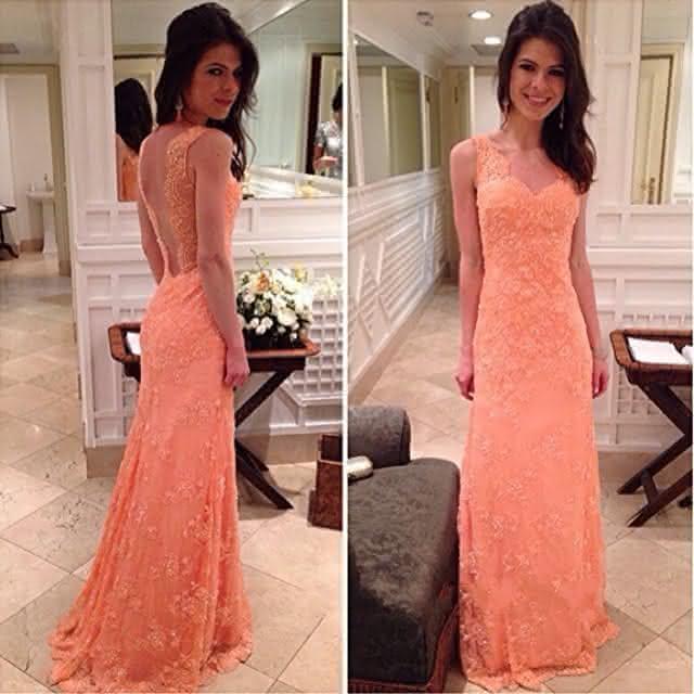 138b314772 Vestido-Longo-De-Renda-Abendkleider-Langes-Sexy-Low -Back-Lace-Prom-font-b-Gowns-b-font