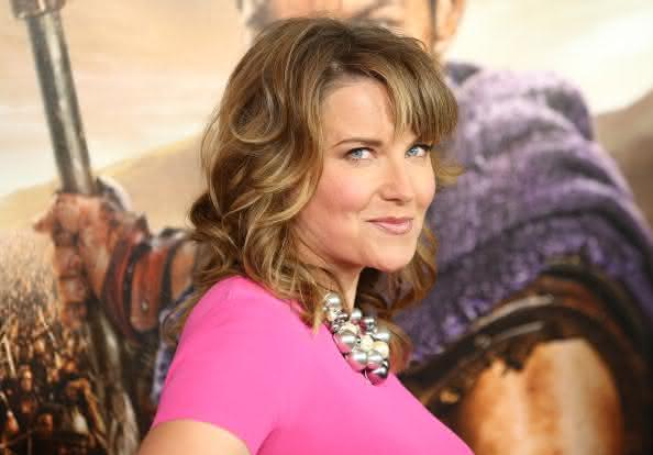 "LOS ANGELES, CA - JANUARY 22: Lucy Lawless arrives at the Los Angeles premiere of ""Spartacus: War Of The Damned"" held at Regal Cinemas L.A. LIVE Stadium 14 on January 22, 2013 in Los Angeles, California. (Photo by Michael Tran/FilmMagic)"