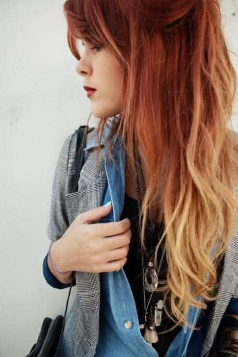 ombré hair em cabelos ruivos