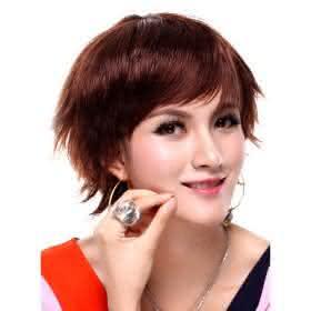 p217281 peruca curta vermelho escuro cabelo liso