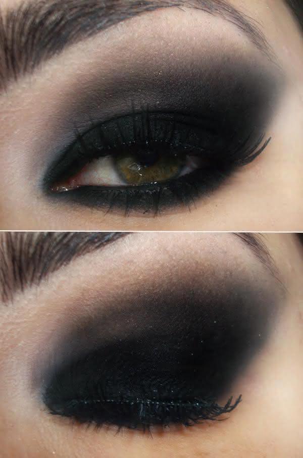 Maquiagens pretas para noite passo a passo patchwork