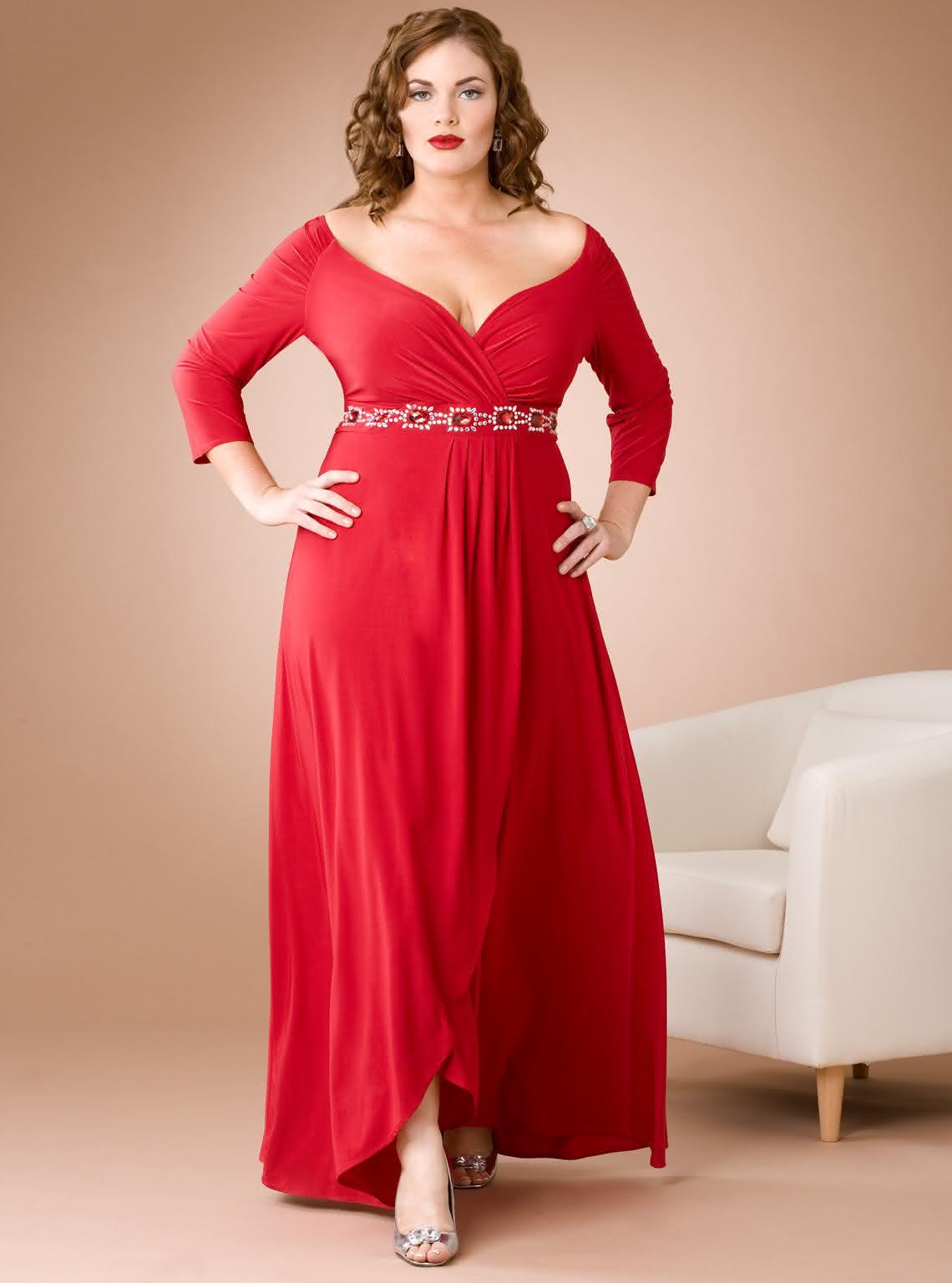vestido-de-festa-para-gordinha-vermelho