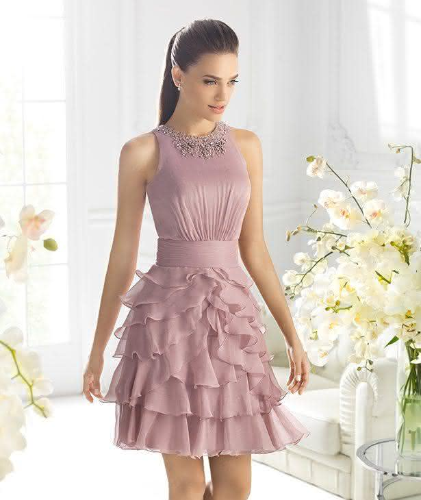 Vestido de festa curto madrinha de casamento
