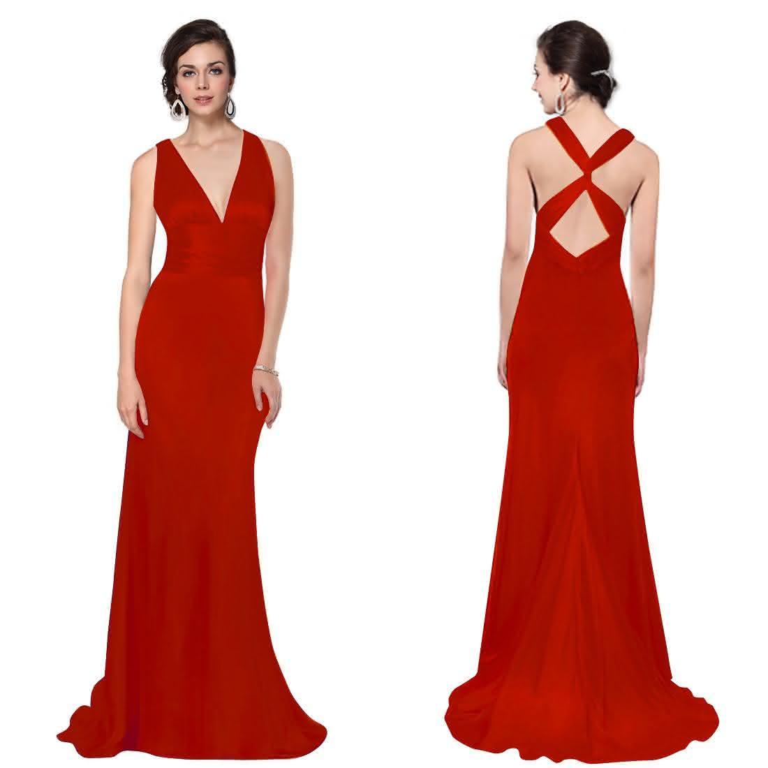 vestidos-de-festa-longos-vermelho-com-decote