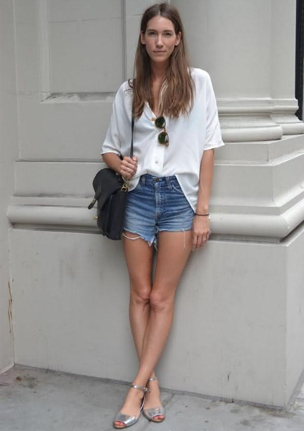 look-verao-short-jeans-camisa-branca
