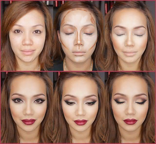 Maquiagem para afinar o rosto