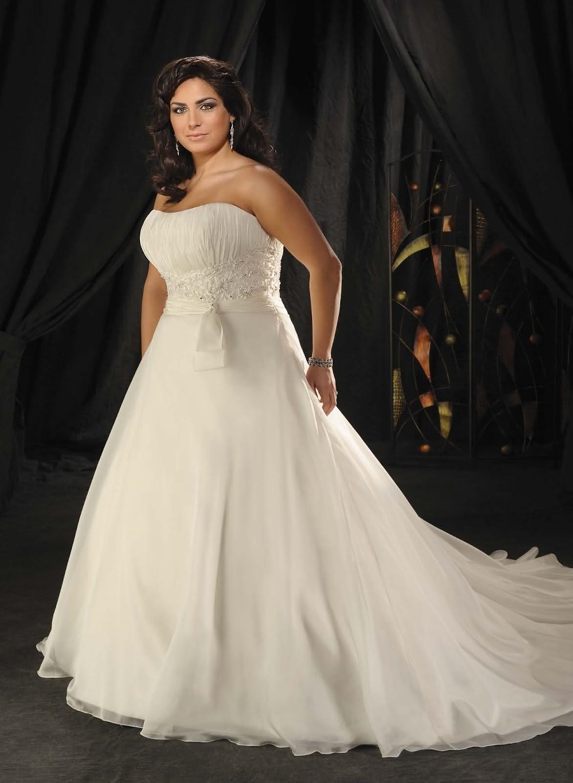 Vestidos de noiva para gordinhas muitos modelos e fotos for Taille plus mariage dresse