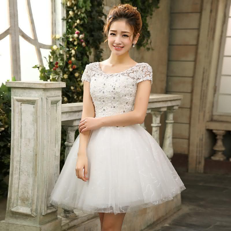 vestidos para debutante curto branco