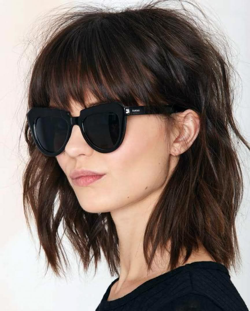 cortes de cabelo com franja lateral