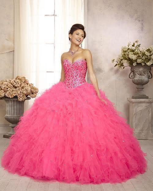 vestidos para debutante longo tomara que caia rosa