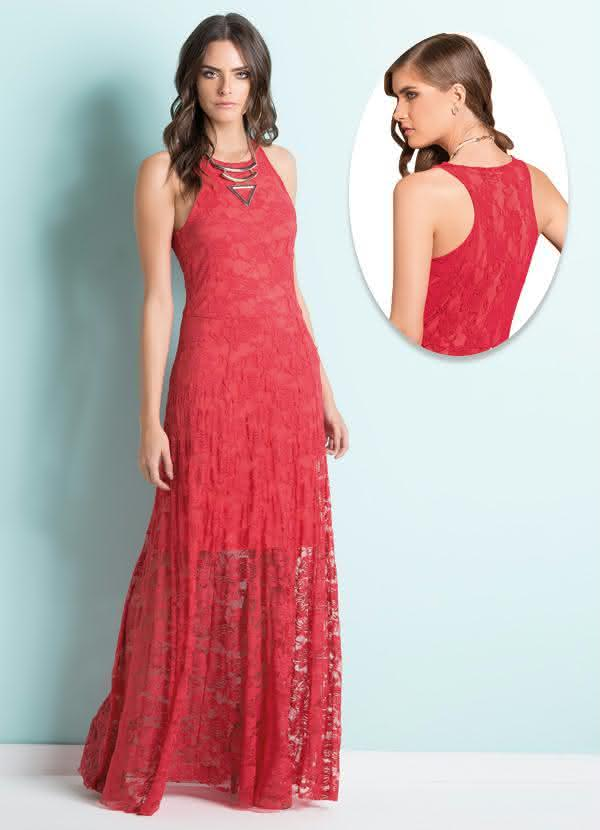 modelos de vestidos longos decotados