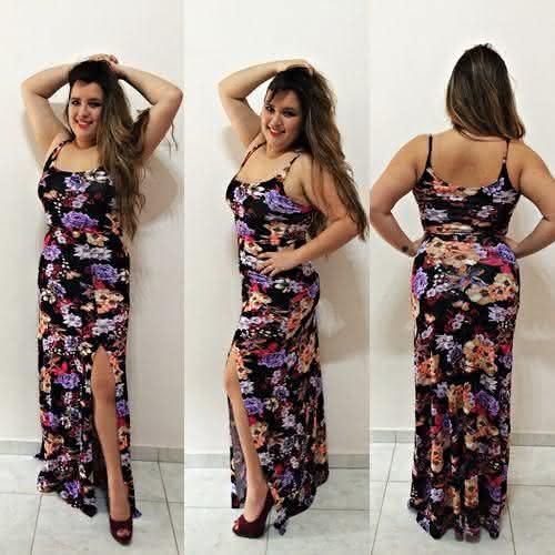 vestido longo para baixinhas pequenas