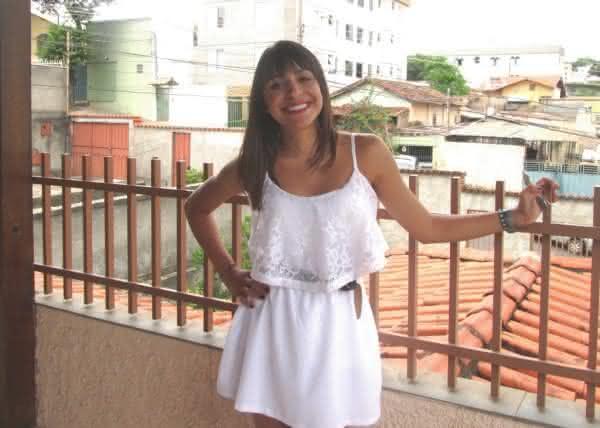 Vestido branco curto dia