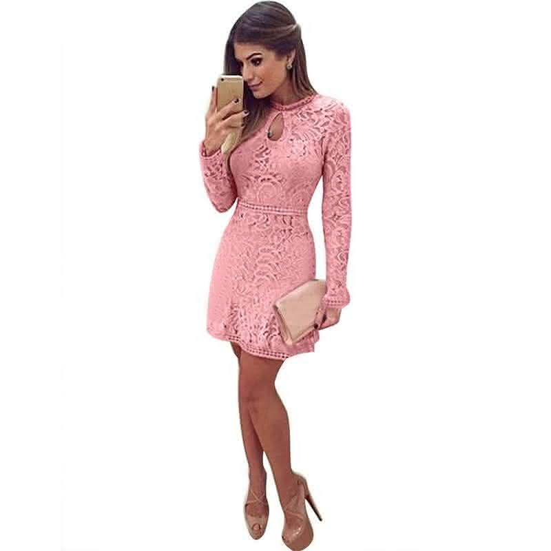 1b3c8b521 ... vestido-de-renda-rosa-manga-compridalonga-2016-frete-  fdbceb2ade05d8e08c61937b7367a96e