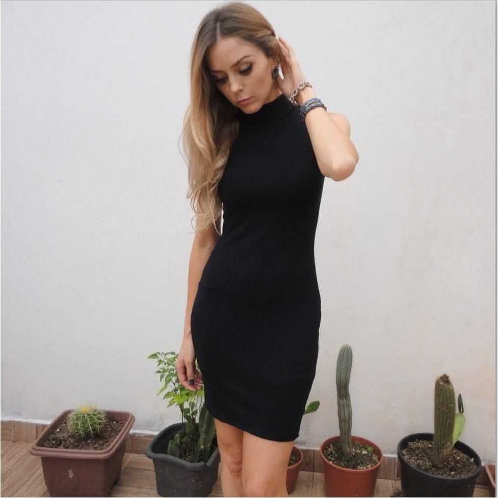 Vestido preto basico barato