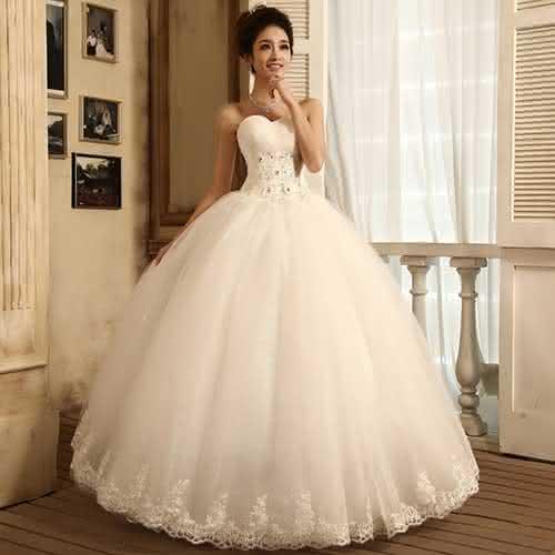 vestido de noiva tomara que caia 2018 princesa