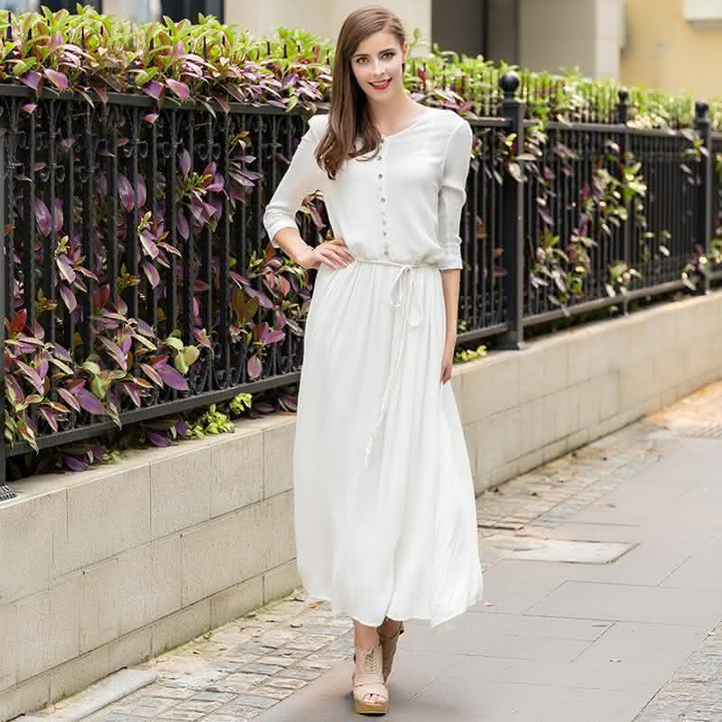 2015-autumn-new-arrival-women-fashion-three-quarter-sleeved-o-neck-cotton-and-font-b-linen