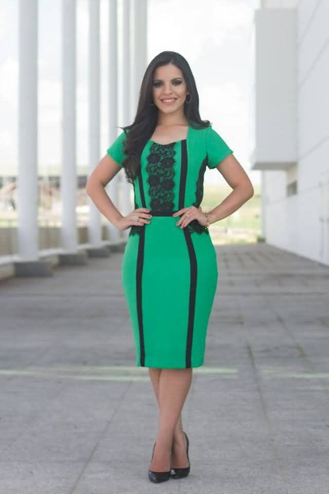 vestidos para evangélicas curto verde