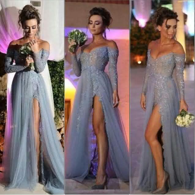 cinza-longo-a-line-elegante-fenda-de-manga-comprida-applique-sexy-prom-vestidos-vestidos-de-festa