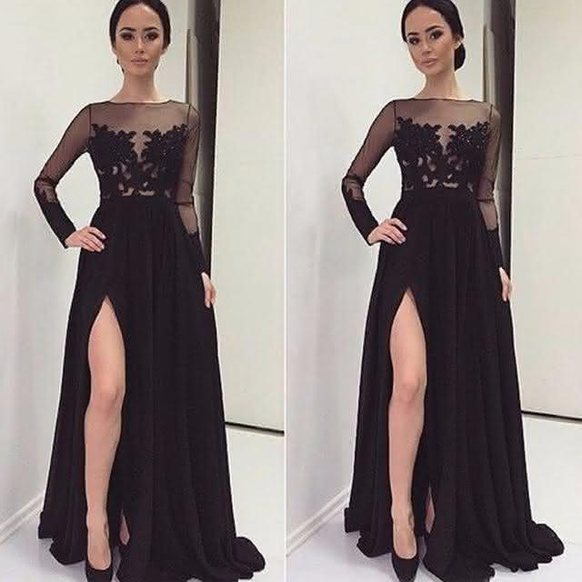 lindo-fenda-alta-longo-vestidos-preto-chiffon-completa-mangas-festa-do-casamento-do-laco-vestidos-de-jpg_640x640
