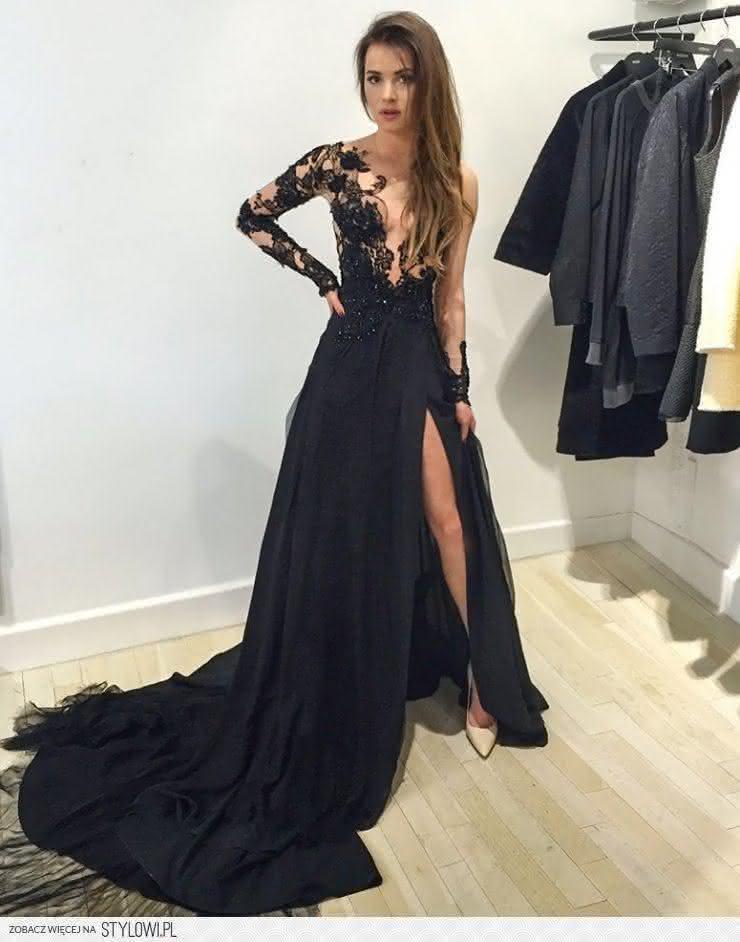 preto-vestido-de-baile-v-neck-chiffon-lace-manga-comprida-prom-vestidos-sexy-fenda-vestido-de