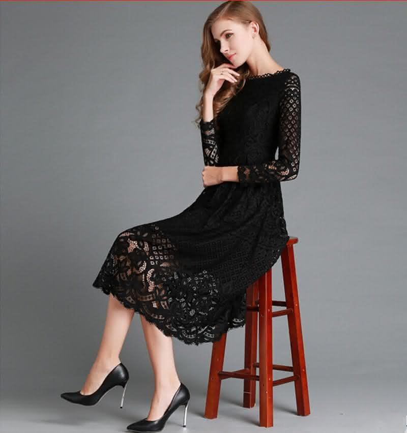 new-european-2016-spring-women-s-lace-hollow-out-long-dresses-bohemian-femme-casual-clothing-women-2