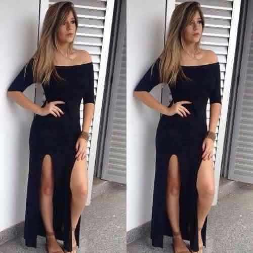 Vestidos longos com fenda