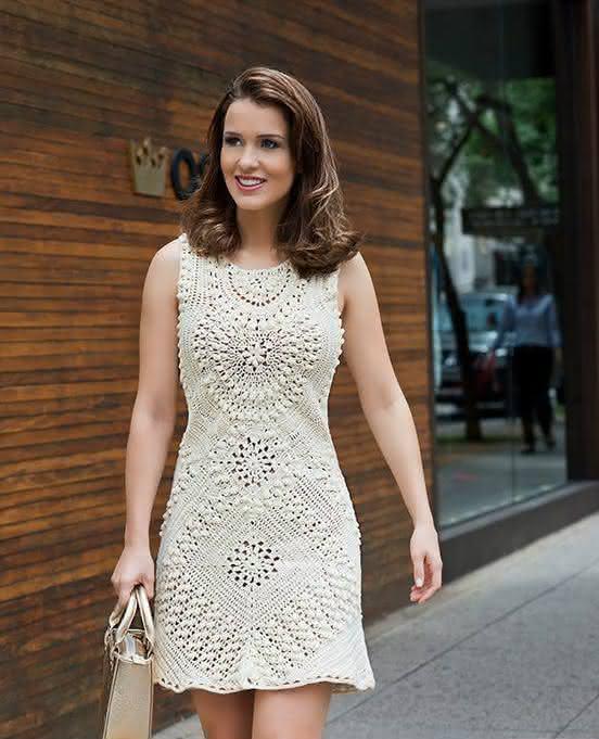 vestidos de croché branco
