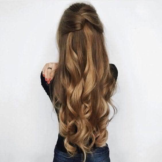 penteados para formatura longos
