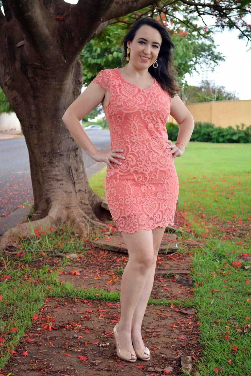 Imagens de vestidos de renda simples