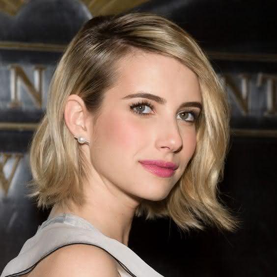 Corte de cabelo curto 2016 fotos cortes de cabelos curtos short hair hairstyle haircut bob lob long bob Emma Roberts