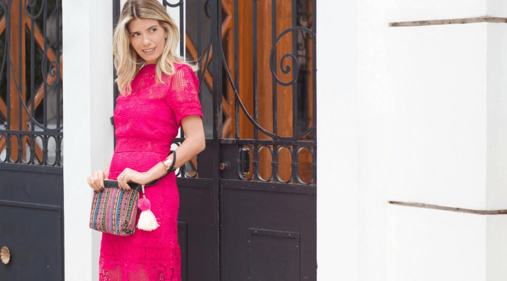 vestido de renda- rosa
